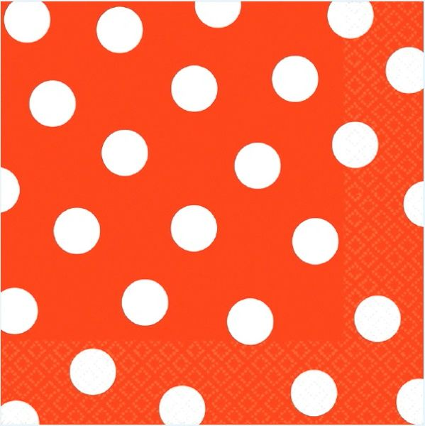 Orange Peel Polka Dots Luncheon Napkins