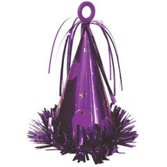 Party Hat Balloon Weight - 12 Purple