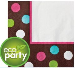 Chocolate & Dots Polka Dot Lunch Napkins