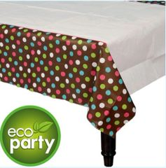 Chocolate & Dots Polka Dot Table Cover