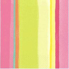 Pink Sunny Stripe Lunch Napkins