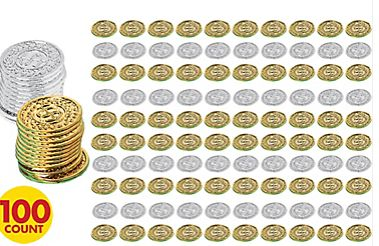 100th Day Of School Coins, 100 ct.