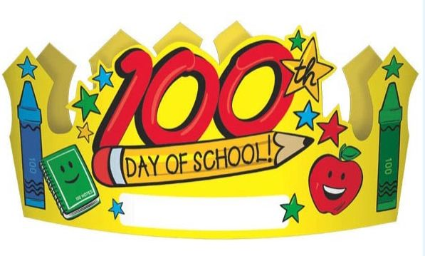 100th Day Of School Paper Crowns, 12ct.