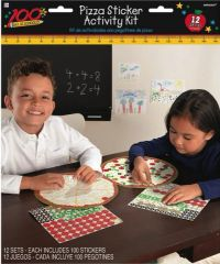 100th Day Of School Pizza Sticker Activity Book