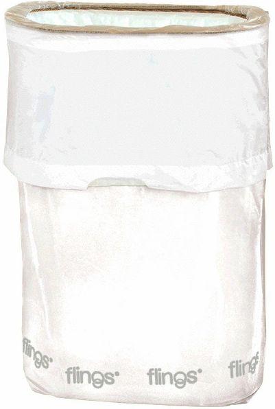 White Flings® Pop-Up Trash Bin