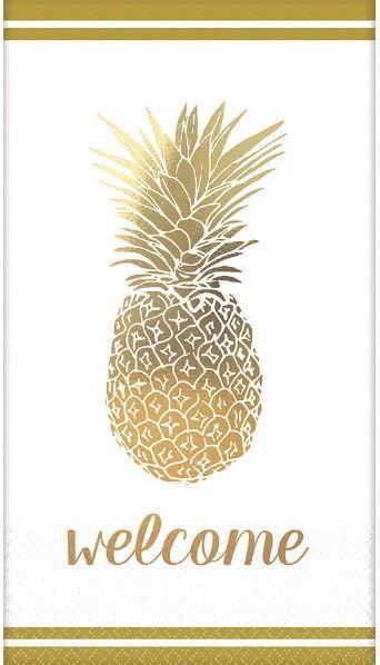 Premium Guest Towels - Golden Pineapple, 16ct