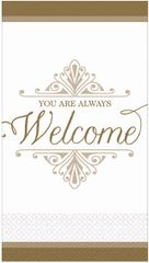 Gold Welcome Reception Premium Guest Towels, 16ct