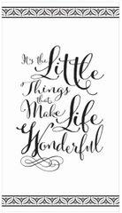 Wonderful Life Black Premium Guest Towels, 16ct