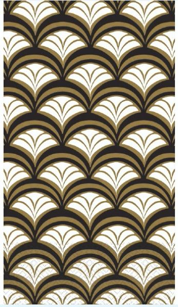 Gold Scallop Guest Towels, 16ct