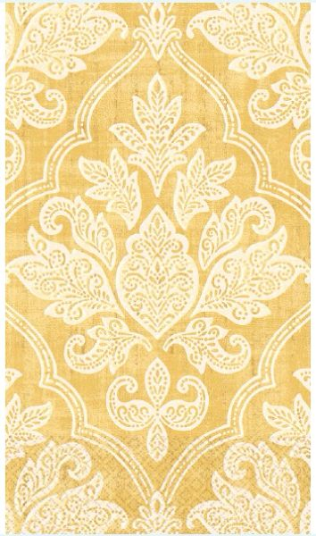 Gold Damask Guest Towels, 16ct