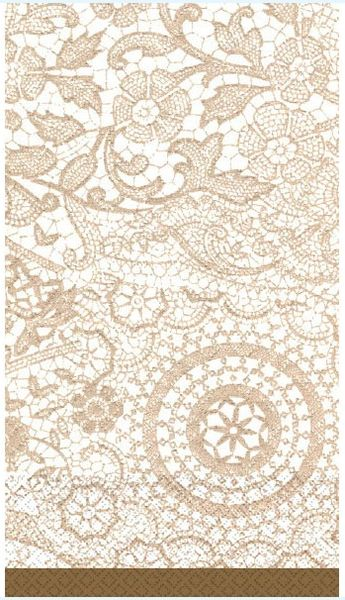 Delicate Lace Guest Towels, 16ct