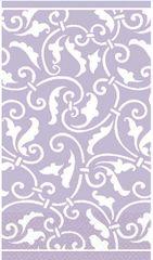 Lavender Ornamental Scroll Guest Towels