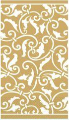 Gold Ornamental Scroll Guest Towels