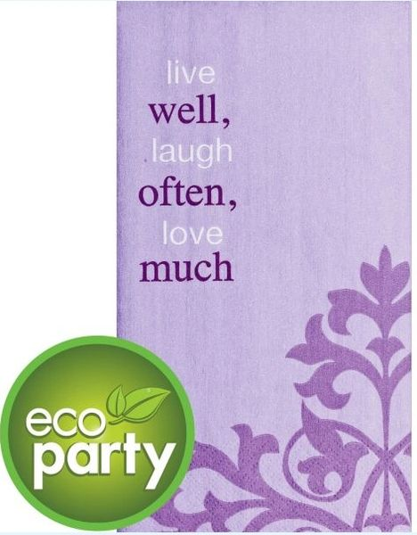 Live Well Laugh Often Guest Towels, 16ct