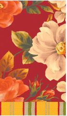 Classic Floral Red Hand Towels
