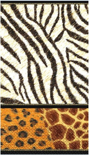 Animal Prints Guest Towels, 16ct