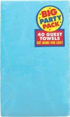Caribbean Blue Big Party Pack Guest Towels, 40ct