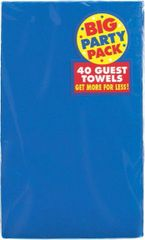 Bright Royal Blue Big Party Pack Guest Towels, 40ct