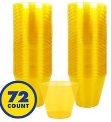 Big Party Pack Sunshine Yellow Plastic Cups, 9oz - 72ct