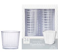 CLEAR Premium Quality Boxed Tumblers, 9oz - 24ct