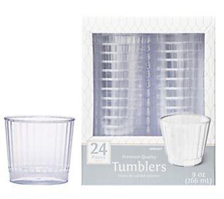 CLEAR Premium Quality Boxed Tumblers, 9oz - 24ct