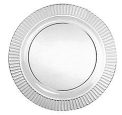 """Clear Premium Plastic Round Dessert Plates, 7 1/2"""" - 32ct"""