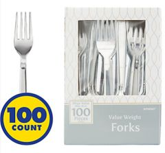 High Count Boxed Forks - Silver, 100ct