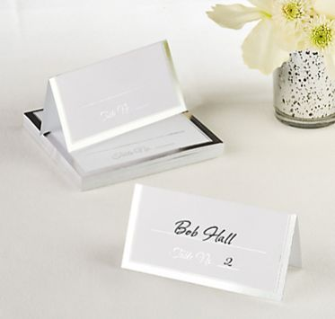 Silver Border Place Cards, 50ct
