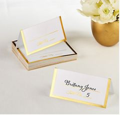 Gold Border Place Cards, 50ct