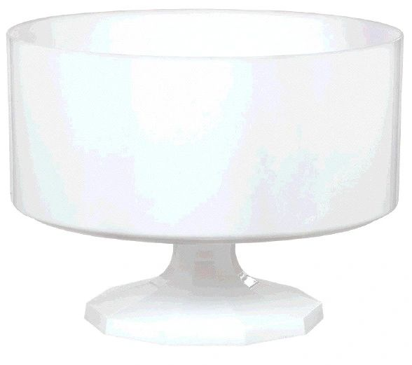 Small White Plastic Trifle Bowl & Pedestal