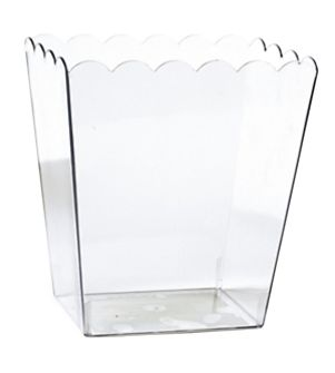 Clear Scalloped Container, Medium
