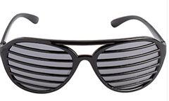 Black Shutter Glasses