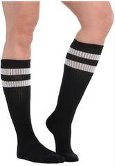 Black Striped Knee Socks