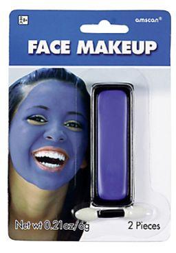 Blue Face Paint Makeup