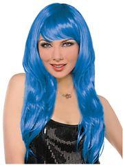 Glamorous Long Blue Wig