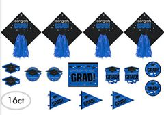 Blue Graduation Cutouts