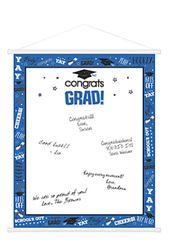 Blue Graduation Sign-In Scroll