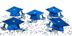 Blue Graduation Table Decorating Kit, 11pcs