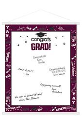 Berry Graduation Sign-In Scroll