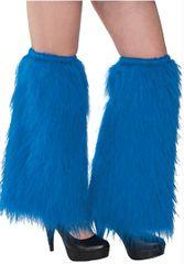 Blue Plush Leg Warmers
