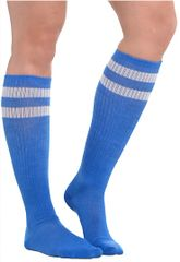 Blue Striped Knee Socks