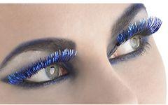 Blue Tinsel Eyelashes