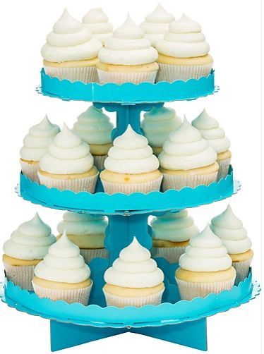Caribbean Blue Cupcake Stand