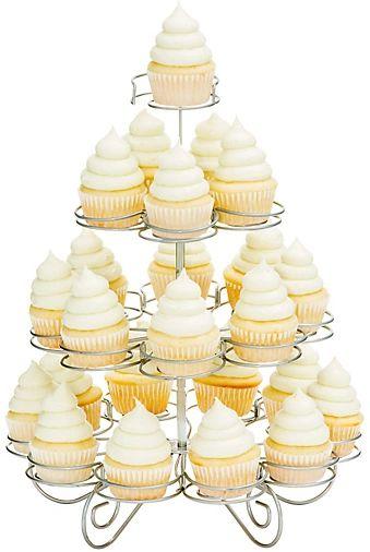 4 Tier Wire Mini Cupcake Stand