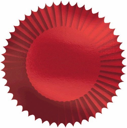 Cupcakes Case - Red Foil, 24ct