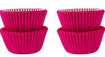 Mini Bright Pink Baking Cups, 100ct