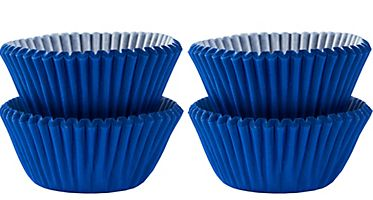 Mini Bright Royal Blue Baking Cups, 100ct