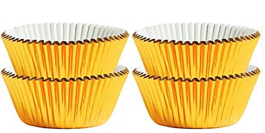 Mini Gold Baking Cups, 75ct