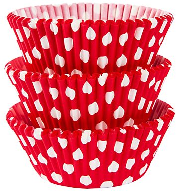 Red Polka Dot Baking Cups, 75ct
