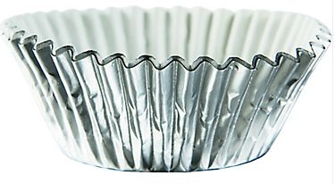 Cupcake Cases - Silver, 24ct